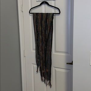Sparkly Scarf with Tassels